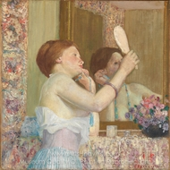 Woman with a Mirror painting reproduction, Frederick Carl Frieseke
