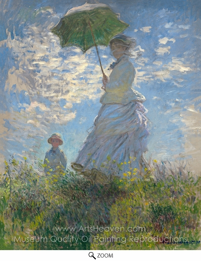Claude Monet, Woman with a Parasol oil painting reproduction