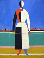 Woman with a Rake painting reproduction, Kasimir Malevich