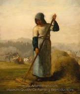 Woman with a Rake painting reproduction, Jean-Francois Millet