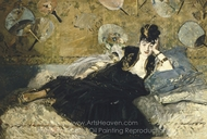 Woman with Fans painting reproduction, �douard Manet
