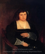 Woman with Forget-Me-Nots painting reproduction, Frank Duveneck