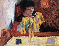 Woman with Mimosa painting reproduction, Pierre Bonnard