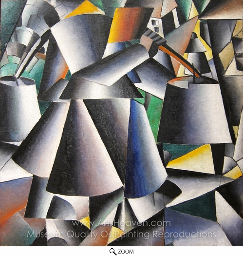 Kasimir Malevich, Woman with Pails oil painting reproduction