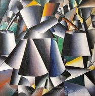 Woman with Pails painting reproduction, Kasimir Malevich