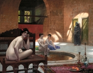 Women Bathing painting reproduction, Jean-Leon Gerome
