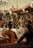 Women in Paris, The Circus Lover painting reproduction, James Tissot