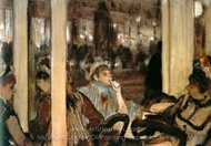 Women on a Cafe Terrace in the Evening painting reproduction, Edgar Degas
