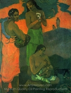Women on the Edge of the Sea painting reproduction, Paul Gauguin