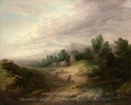 Wooded Upland Landscape painting reproduction, Thomas Gainsborough