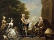 Woodes Rogers and His Family painting reproduction, William Hogarth