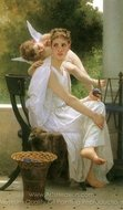 Work Interrupted (Le Travail Interrompu) painting reproduction, William A. Bouguereau
