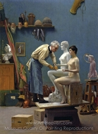 Working in Marble painting reproduction, Jean-Leon Gerome