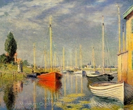 Yachts at Argenteuil painting reproduction, Claude Monet