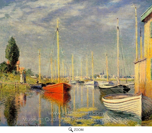Claude Monet, Yachts at Argenteuil oil painting reproduction