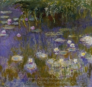 Yellow and Lilac Water Lilies painting reproduction, Claude Monet