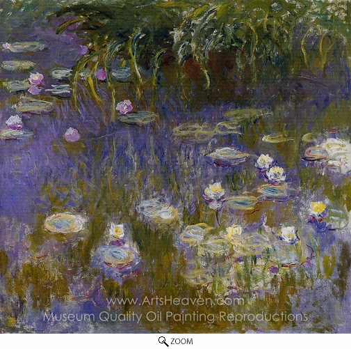 Claude Monet, Yellow and Lilac Water Lilies oil painting reproduction