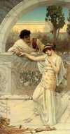Yes or No painting reproduction, John William Godward