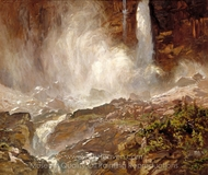 Yoho Falls painting reproduction, John Singer Sargent