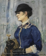Young Woman in a Round Hat painting reproduction, Édouard Manet
