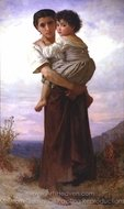 Young Gypsies (Jeunes Bohemiennes) painting reproduction, William A. Bouguereau