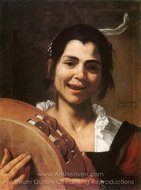 Young Gypsy painting reproduction, Jusepe De Ribera