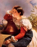 Young Italian Girl by the Well painting reproduction, Franz Xavier Winterhalter