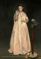 Young Lady in 1866 painting reproduction, Edouard Manet