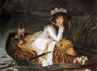 Young Lady in a Boat painting reproduction, James Tissot
