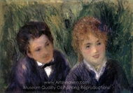 Young Man and Young Woman painting reproduction, Pierre-Auguste Renoir
