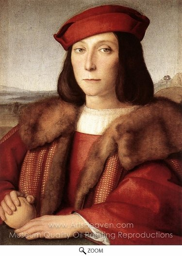 Raphael Sanzio, Young Man with an Apple oil painting reproduction