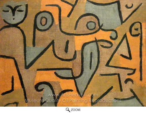 Paul Klee, Young Moe oil painting reproduction