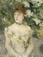 Young Woman Dressed for the Ball painting reproduction, Berthe Morisot