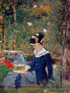 Young Woman in a Garden painting reproduction, Édouard Manet