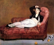 Young Woman Reclining, in Spanish Costume painting reproduction, Édouard Manet