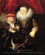 Young Woman with a Child painting reproduction, Sir Anthony Van Dyck