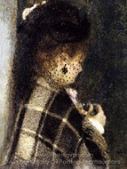 Young Woman with a Veil painting reproduction, Pierre-Auguste Renoir