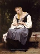 Young Worker (Jeune Ouvriere) painting reproduction, William A. Bouguereau