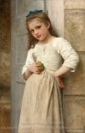 Yvonne sur le pas de la porte painting reproduction, William A. Bouguereau