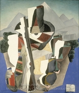 Zapata Style Landscape painting reproduction, Diego Rivera
