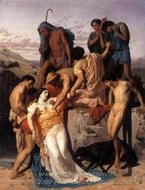 Zenobia Found by Shepherds on the Banks of the Araxes painting reproduction, William A. Bouguereau