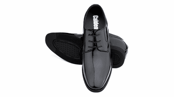 CALDEN K911929 3 Inches Taller (Black Patent Leather)