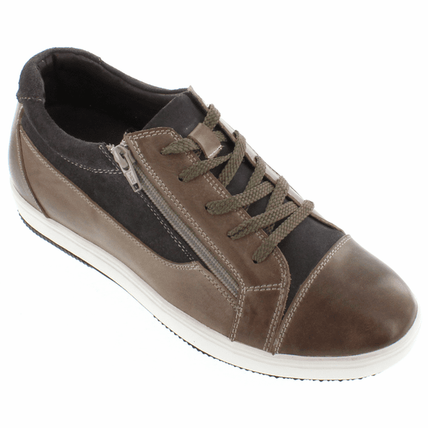CALTO - G3609 - 2.4 Inches Taller (Grey/Brown) - Size 6.5 Only