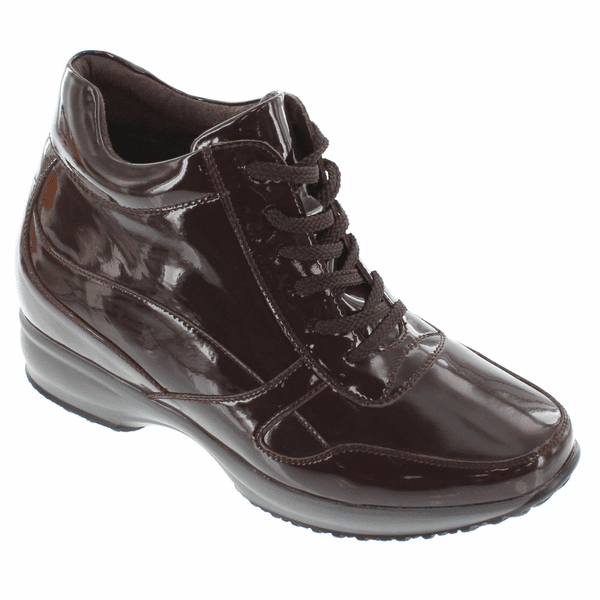 CALTO - G65232 - 3.2 Inches Taller (Cordovan Dark Brown Patent) - Lightweight