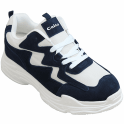 CALTO - H2562 - 3 Inches Taller (Dark Blue/White) - Lightweight