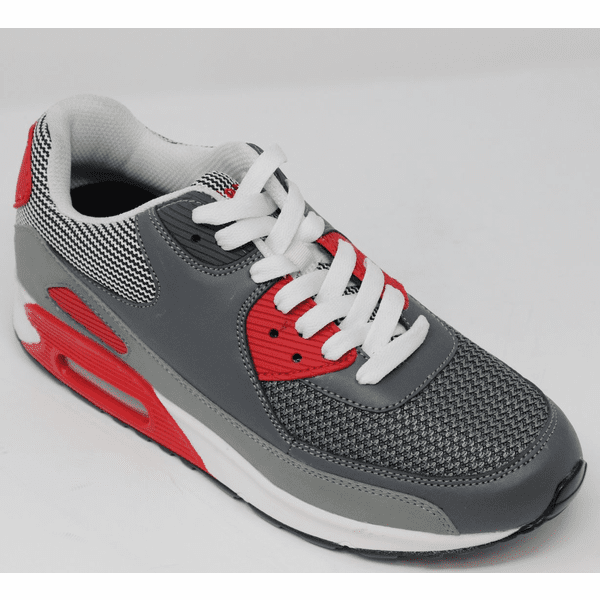 FSX0033 - 2.4 Inches Taller (GREY/RED)  - Size  6  Only - Discontinued