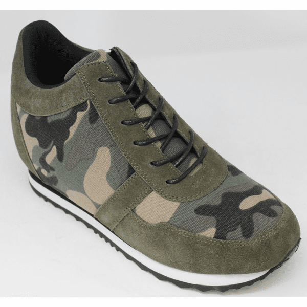 FSZ0028 - 3.2 Inches Taller (CAMO GREEN) - Size 7.5 Only