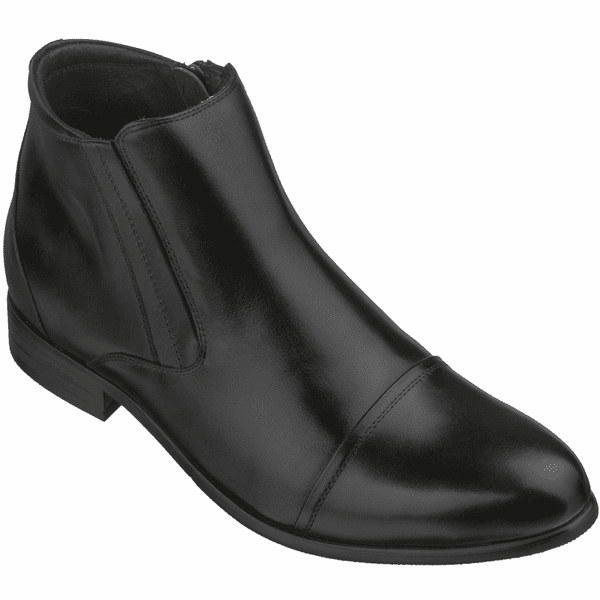 TOTO - A2201 - 2.8 Inches Taller (Black) - Zipper Boots