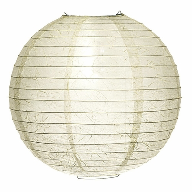 "12"" Cloud Phoenix Silken Japanese Kozo Unryu Fibrous Paper Lantern Shade, Hanging Decoration"