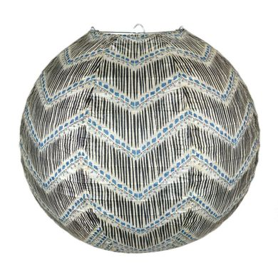 "14"" Bohemian Brush Chevron Patterned Premium Paper Lantern"